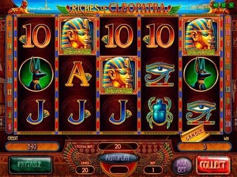 игровой автомат riches of cleopatra novomatic картинки